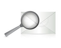 Searching for an email illustration design Royalty Free Stock Images