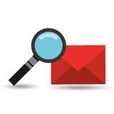 Searching email message icon graphic. Vector illustration eps 10 Stock Photos