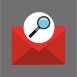 Searching email message icon graphic. Vector illustration eps 10 Royalty Free Stock Photo