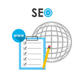 Searching engine optimization. Design, vector illustration eps10 graphic Royalty Free Stock Photos