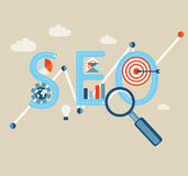 Searching engines optimization process Royalty Free Stock Photography