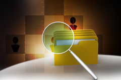 Searching file folder. In color background Stock Photography