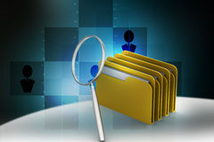 Searching file folder. In color background Stock Image