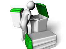 Searching in the garbage Stock Photo