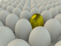 Searching for golden egg Royalty Free Stock Image
