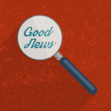 Searching for the Good News. Concept. Flat design illustration Stock Images
