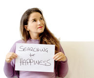 Searching for happiness Royalty Free Stock Images