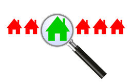 Searching for a house - concept Stock Images