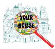 Searching of the house concept Royalty Free Stock Image
