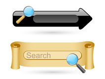 Searching icons Royalty Free Stock Photos