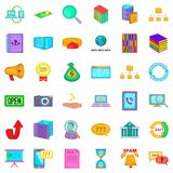 Searching icons set, cartoon style. Searching icons set. Cartoon style of 36 searching vector icons for web isolated on white background Stock Photography
