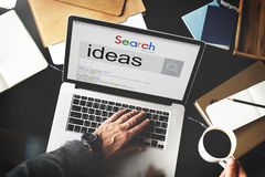Searching Ideas Aspiration Internet Website Concept Stock Photos