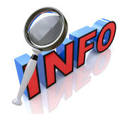 Searching for information. In the design of the information related to the information and search Royalty Free Stock Photo