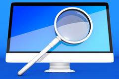 Searching the Internet and the digital world Royalty Free Stock Photo