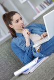 Searching on the internet. Research royalty free stock photography