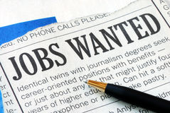 Searching for a job Royalty Free Stock Photo