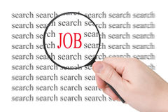 Searching for a job Royalty Free Stock Photos