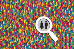 Searching job vector Royalty Free Stock Image