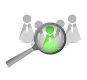 Searching for a leader. illustration design Royalty Free Stock Images
