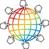Searching logo stock illustration