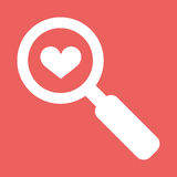 Searching a Love. Flat vector icon illustration EPS10 Stock Images