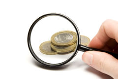 Searching money Royalty Free Stock Photo