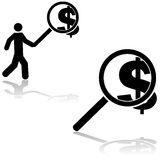 Searching for money Royalty Free Stock Images