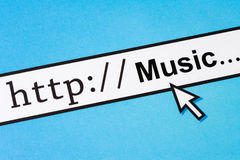 Searching Music Online Royalty Free Stock Photo