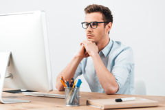 Searching for new ideas. Stock Photo