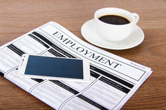 Searching for a new job or employment. In a newspaper Stock Photography