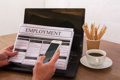 Searching for a new job or employment Stock Photos