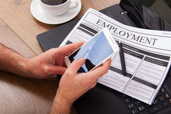 Searching for a new job or employment Stock Photo