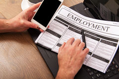 Searching for a new job or employment Royalty Free Stock Photography