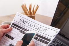 Searching for a new job or employment Stock Photography