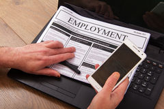 Searching for a new job or employment Royalty Free Stock Images