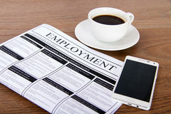 Searching for a new job or employment Stock Images
