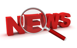 Searching news concept  3d illustration Stock Images