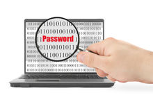 Searching for password Royalty Free Stock Image