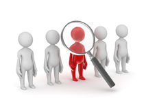 Searching people. Computer generated image. 3d render Royalty Free Stock Photos