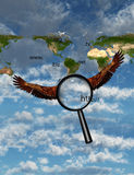 Searching the planet Royalty Free Stock Photography