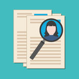 Searching professional staff, analyzing resume, recruitment conc Royalty Free Stock Photography