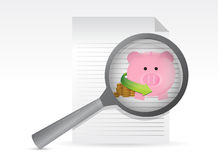 Searching for profits. Illustration design over a white background Royalty Free Stock Photos