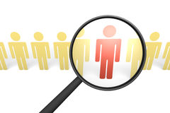 Searching of proper candidate. Royalty Free Stock Image
