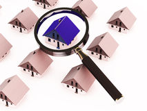 Searching property or home Royalty Free Stock Images