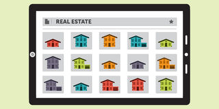 Searching for Real Estate on a Tablet Royalty Free Stock Photo