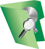 Searching and retrieving information Stock Image