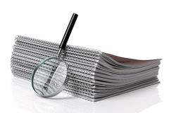 Searching ring binder document Stock Photos