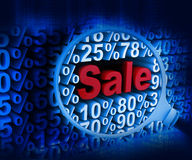 Searching sale discounts Stock Photography