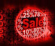 Searching sale discounts Royalty Free Stock Photo