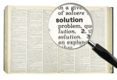 Searching for SOLUTION Royalty Free Stock Images
